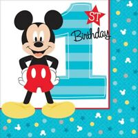 BABY MICKEY MOUSE FUN TO BE ONE BEVERAGE NAPKINS PACK OF 16 BIRTHDAY PARTY SU...