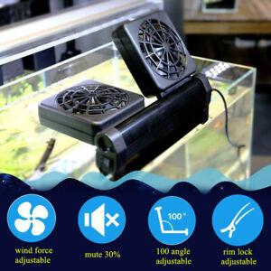 AU Adjustable Aquarium Water Cooling Fan Tropical Marine Fish Tank Wind
