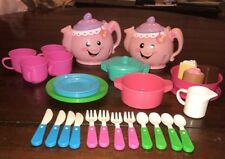 Fisher Price Laugh And Learn Talking Tea Pots Set With Extras