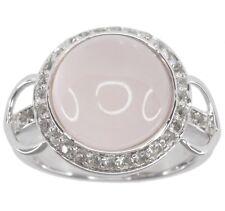 Rose Quartz Gemstone 7.50 carats Sterling Silver Ring size N