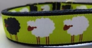 Black Sheep, 25mm Wide Adjustable Collar 35cm-55cm Handmade in Australia