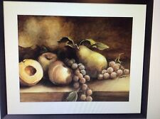 Still Life Fruit Framed Print with Glass Ethan Harper Longaberger 35.5 29.5 New