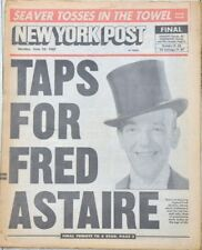 New York NY Post Actor/Dancer Great Fred Astaire Dead/Dies at 88 1987 Newspaper