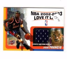 2003 Topps Authentic Game Worn Warm Up Jersey Steve Francis Basketball Card