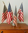 Antique Early American Flags Lot  5 Flags   4 w  48 Stars  Free Shipping