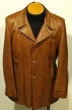 vintage men's GRAIS leather jacket coat fight club pimp sz 40-42