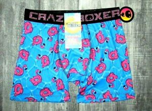 MENS CRAZY BOXER INFLATABLE FLAMINGO POOL PARTY BOXER BRIEF SIZE S (28/30)