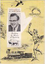 Progressive Conservative Association of Manitoba 1961 Annual Meeting Agenda slc1