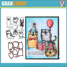 SNARKY CAT Metal Cutting Dies and Stamps for DIY (Price include STAMP and DIE)