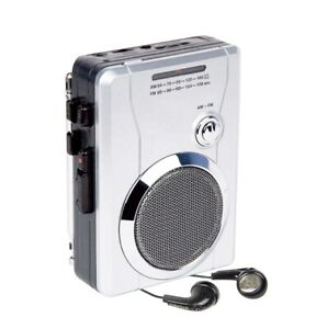 Class Portable Walkman Cassette Radio Player Recorder With Built In Speaker