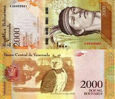 VENEZUELA 2000 Bolivares Banknote World Paper Money UNC Currency Pick p-NEW 2016