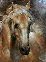 SFPAT547 fine 100% hand painted strong animal horse oil painting art on canvas