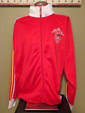 Coogi Heritage Red Satin Multi Color Stitch Jacket White Trim Men's 3XL XXXL