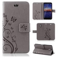 Nokia 3.1 Handy Tasche Handyhülle Wallet Case Schutz Hülle Blumen Cover Etui Neu