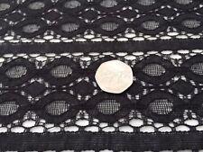 Guipure lace, 'Mohita' Black (per metre) dress fabric, sewing