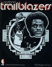 1971-72 NBA MILWAUKEE BUCKS vs. PORTLAND TRAIL BLAZERS GAME PROGRAM (UNSCORED)