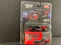 Mini GT HKS Toyota GR Supra ADVAN 2020 Tokyo Auto Salon Black MGT00206 1/64