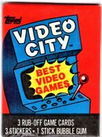 1983 TOPPS VIDEO CITY UNOPENED WAX PACK