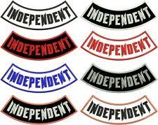 "INDEPENDENT ROCKER PATCH 11"" BOTTOM SIDE NO CLUB MOTORCYCLE BIKER 8 COLORS USA"