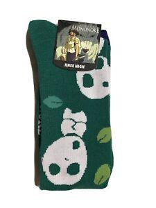NEW Princess Mononoke Kodama Knee High Green Socks Sz 9-11 Cosplay Bioworld