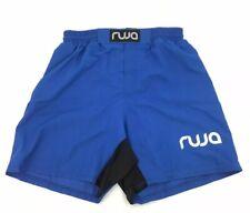 Ruja Men's Pro Mma Boxing Fitness Training Shorts, Black, Blue Size Large S1b