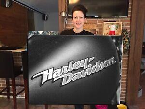 Gas Tank Harley Davidson Canvas Print Huge Framed Wall Art Decor Cotton Canvas