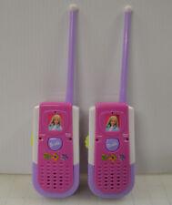 Rare Pair of Barbie Pink Mattel Pretend Play ~ 2001 Walkie Talkies Be-225
