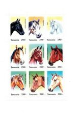 Animal Kingdom Tanzania 1994 Horses 7 Stamps Cancelled Yt 1435 A 1441