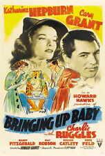 BRINGING UP BABY Movie POSTER 27x40 C Katharine Hepburn Cary Grant May Robson
