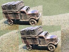 1/100th (15mm) Painted WWII German Opel Blitz Truck model Set of 2