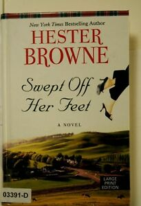 SWEPT OFF HER FEET   Hester Brown LARGE PRINT Edition Hardcover BOOK