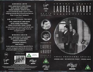 VIRGIN VIDEO DISPLAY SLEEVE for: Laurel & Hardy -  Comedy Classics (1988) EX
