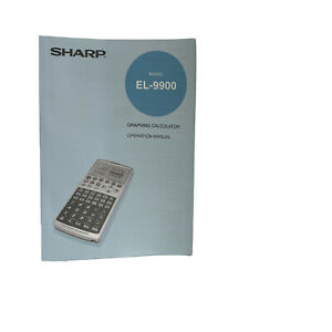 Sharp EL-9900 Calculator Manual Only For Graphing Calculator