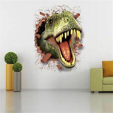 3D PVC Jurassic Park View Dinosaure Chambre Enfants Wall Sticker Déco murale