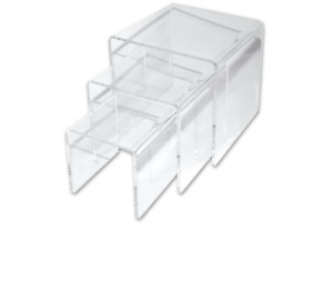 Clear Acrylic Display Riser - Set of 3