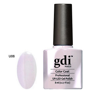 GDI NAILS - U06 PALE LAVENDER - SUBTLE NUDE - UV LED GEL NAIL POLISH VARNISH