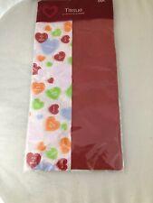 Tissue Paper Red + White Candy Heart Valentine Sealed Nip