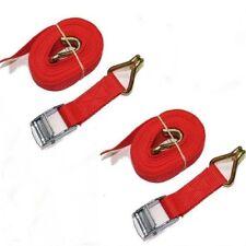 Tie Down Straps With Hooks Set 2 x 3 Meter Trailer Strap 25mm Cam Buckle Lashing