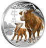 2021 Australia COLORED PROOF Lunar Year of the OX 1oz Silver $1 Coin Series 3