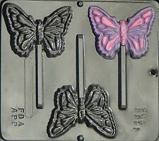 FREE SHIP NEW 3 Cav BUTTERFLY Chocolate Candy Fondant Plaster Clay Lolly Mold