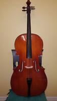 Cello, 4/4, Great for Intermediate Player, Good Condition