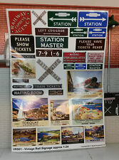 G LGB 1 24 Scale Vintage Station Adverts Notices Signs Railway Layout Diorama