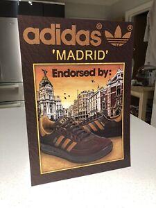 ADIDAS ORIGINALS MADRID TRAINERS PRINT A3 ART CITY SERIES OG