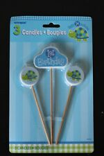 Birthday Cake Toppers Number Candles Party Candle Numbers Boy 1st Turtle Blue