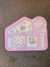 Cath Kidston Kids Section Plate Pink Girls Rose Pattern