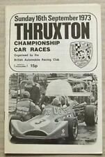 THRUXTON 16 Sep 1973 BARC CHAMPIONSHIP CAR RACES Programme