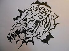 """Schablone """" Tiger kommt aus..."""" auf A4"""
