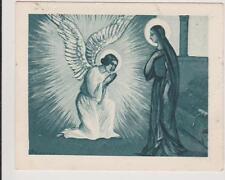 IMAGE PIEUSE HOLY CARD SANTINI L'ANNONCIATION - MARIE ET L'ANGE GABRIEL