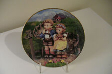 "NEW Hummel Little Companions Collector Plates ""COUNTRY CROSSROADS"" W/Certificate"