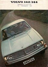 Volvo 142 & 144 1968-69 UK Market Foldout Sales Brochure 140-Series B20 S